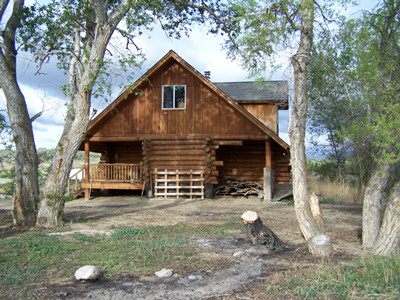Cabin young adults stay at during Catholic rehab in Wyoming.
